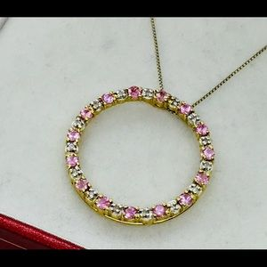 Jewelry - Pink Sapphire and Diamond Necklace